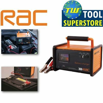 RAC 12 Amp Battery Charger for 6 Volt & 12V Car & Bike Batteries RAC-HP026