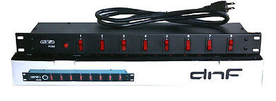 8 Switch Plug Ac Outlet Power Supply Distribution Block Ac Strip Surge Protector