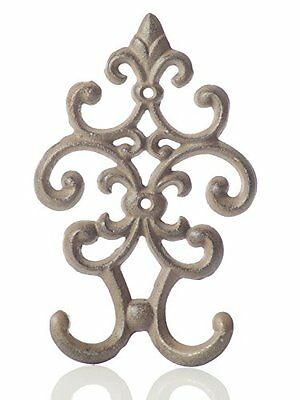 Cast Iron Vintage Double Wall Hook | Decorative Wall Mounted Coat Hanger | 7.75""