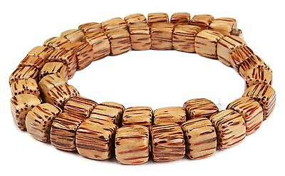 Coconut Palm wood Beads Cube approx. 10 mm Wooden Natural Cord
