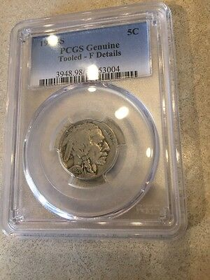 1921-S Key Date Buffalo Nickel PCGS Fine Details Free Ship USA !!