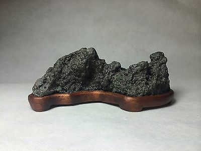 Natural polished Viewing stone suiseki-old stock Japanese tea ceremony mountain