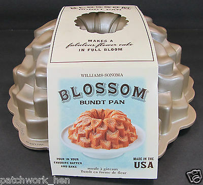 Nordic Ware Williams Sonoma Blossom Bundt Pan 10 C Capacity Preowned Never Used