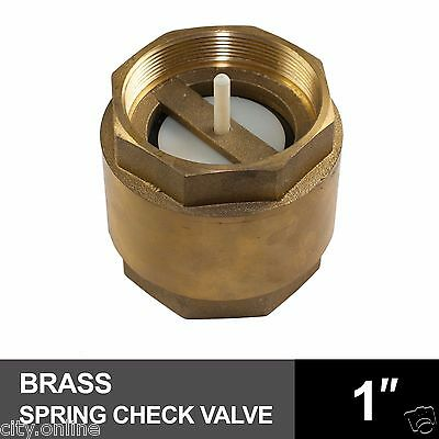 SPRING CHECK VALVE 1 inch 25mm BRASS BSP Female Thread Non Return Piston Valve