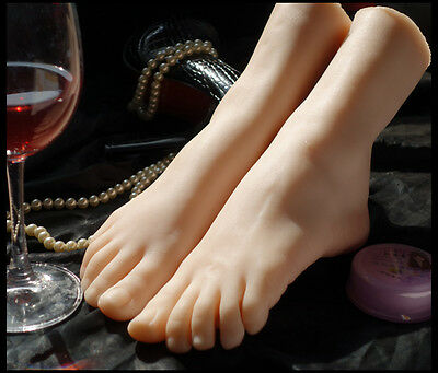 lifesize realistic soft silicone foot mannequin fetish love jewelry sock display