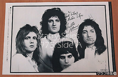 Queen~Loggins & Messina 1975 2 Sided Japan Pin Up W Preprinted Signatures