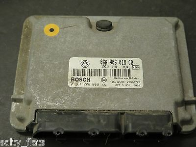 1999 2000 Volkswagen Beetle 06A 906 018 CR ECU 2.0 Computer VW Golf ECM Jetta MT