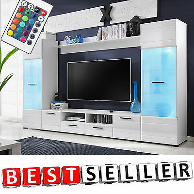 Living Room Set TV Unit Cabinet Furniture Wall Shelf Cupboard Stand Gloss Modern