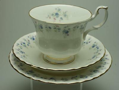 Memory Lane by Royal Albert Blue Flower Sprigs Trio KC133