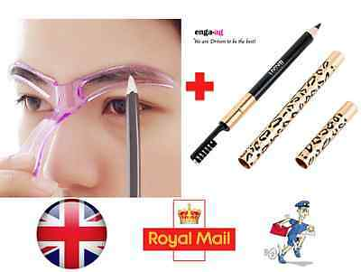 Eyebrow Stencil Template Make Up Kit Shaping Tool For Eyebrow + Eyebrow Pencil