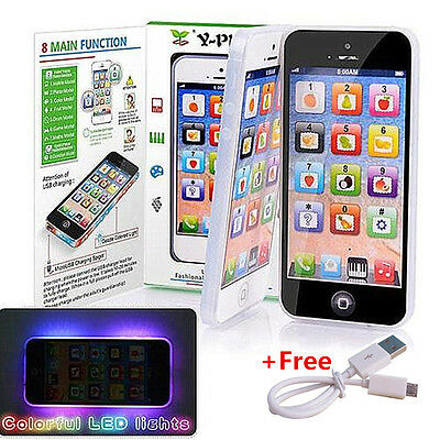 Kids Children Y-Phone Educational Toy Learning English Game Touch Screen+Cable