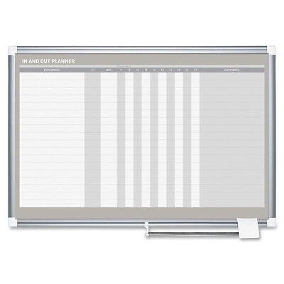 "Brand New Bi-Silque Mastervivion BVCGA01110830 In/Out Dry Erase Board 24"" x 36"""