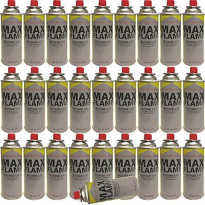 28 X Butane Gas Bottle Canisters Bottles For Cooker Heater Bbq Camping 28Pc New