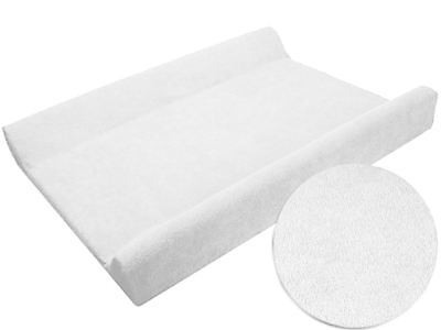 White Terry Changing Mat Cover 70x50cm Baby Nursery Case Sheet with Raised Edge