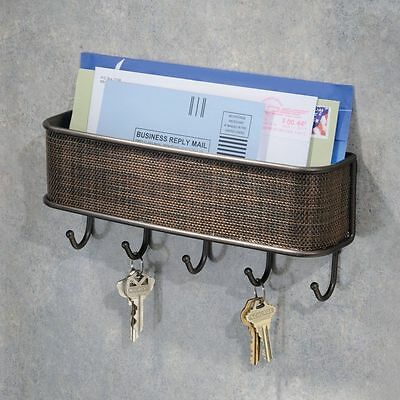 Wall Mount Mail Key Rack Holder Organizer Letter Kitchen Storage Hooks Home New