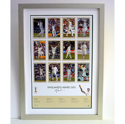Ashes 2005 limited edition print signed by Michael Vaughan
