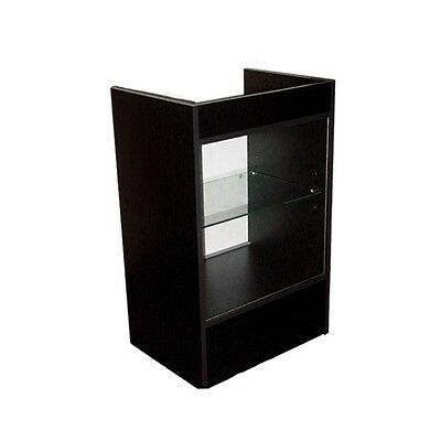 Cash Register Stand Showcase With Glass Front - Black
