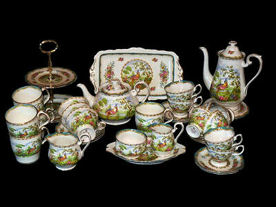 Royal Albert ' Chelsea Bird '  Tea Set And Tableware - English Bone China