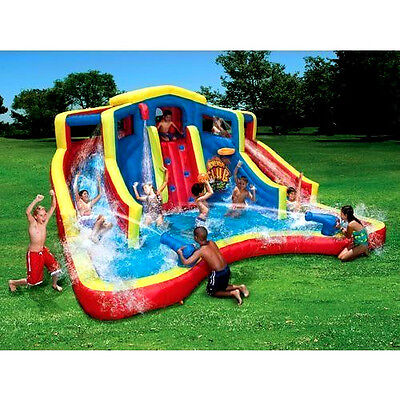 Inflatable Water Two Slide Pool Bounce Jumper Bouncer Outdoor Backyard Relax NEW