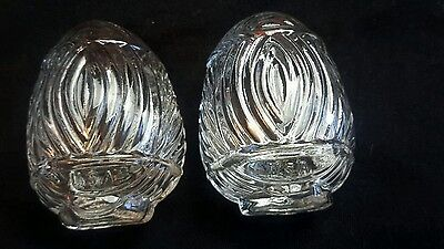 Vintage Lot Of 2 Glass Bird Cage Feeders Water Seed Art Deco Design Usa Antique