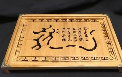 Chinese Bamboo Gongfu Tea Table Serving Tray Dragon Medium Tea Tray Top Seller