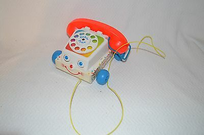 Vintage Repro Fisher Price Chatter Box Telephone Pull Toy