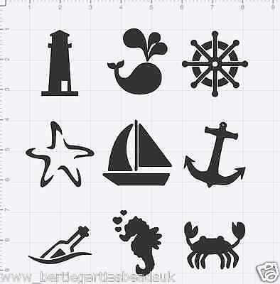 Reusable Mylar Nautical Sea Stencil Template for Crafting Canvas decor Wall art