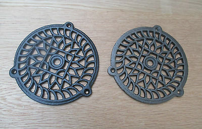 "5""traditional Round Victorian Vintage Cast Iron Air Vent Air Brick Grille Cover"
