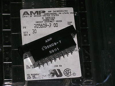 2 new pieces,  AMP 205609-7 M SERIES 36-position Connector Socket assembly.