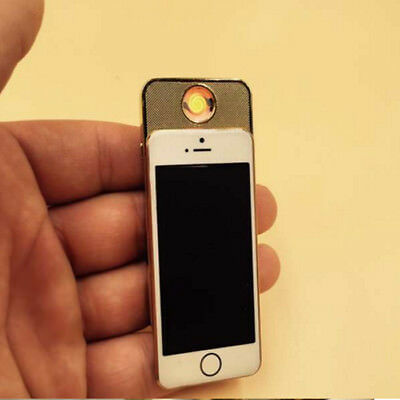 NOVELTY New Cigarette Lighter iphone4 USB Charge Windproof lighter 2 Colors