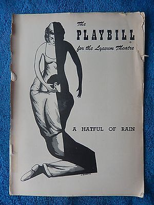 A Hatful Of Rain - Lyceum Theatre Playbill - April 16th, 1956 - Shelley Winters