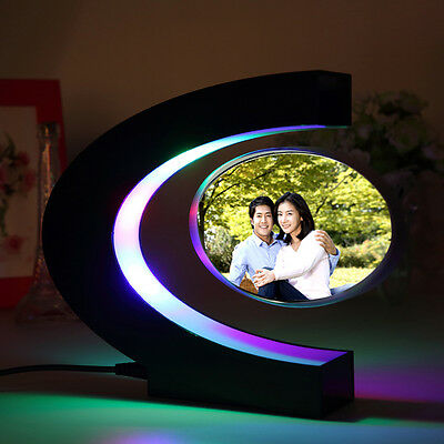 C-shaped Magnetic Floating Picture Photo Frame Home Decor Birthday Gift E0