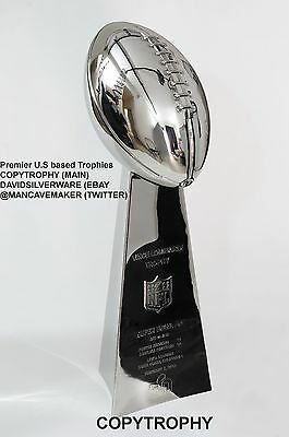 Vince Lombardi Trophy, Super Bowl Trophy, Any Final In History. 22 inches