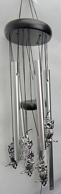 Metal OWL Windchime Wind Chime Home Garden Decor Gift  - Hanging Ornament - NEW
