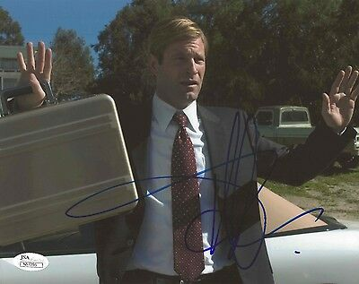 """Aaron Eckhart REAL hand SIGNED 8x10"""" Photo #4 w/ JSA COA Thank You for Smoking"""