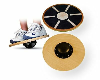 Wooden Training Balance Board Martial Arts Yoga Fitness Gravity Exercise