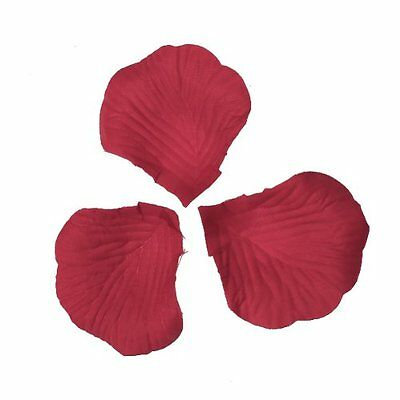 300pcs Fabric Rose Petals Flower Wedding Decoration Red  BF