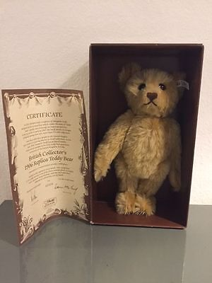 STEIFF® 406096 - BRITISH COLLECTOR´s 1906 TEDDY, REPLICA, M. ZERTIFIKAT, NEU/OVP
