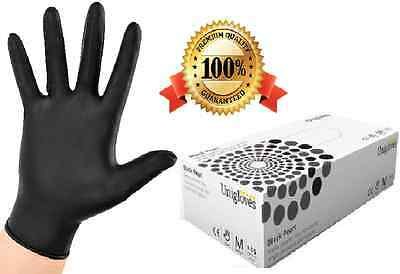 Extra Strong Black Nitrile Disposable Gloves Powder Free Tattoo Mechanic