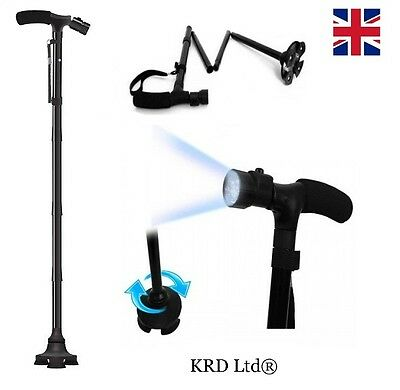 ULTIMATE MAGIC CANE Adjustable Folding & Extendable Walking Stick + LED Lights