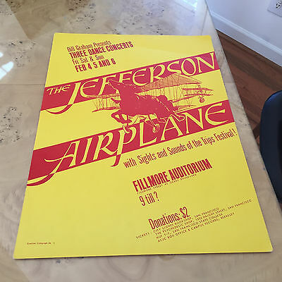 Jefferson Airplane Bill Graham Presents at the Fillmore Concert Poster