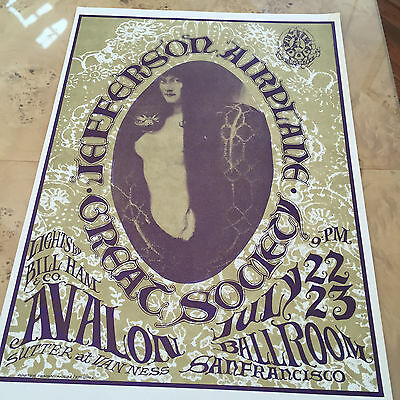 Jefferson Airplane/Great Society Concert at the Avalon Poster