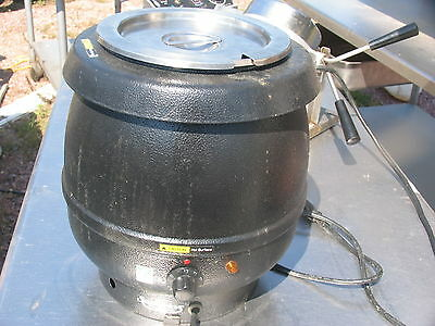 Commercial Pro  10 Quart Silver Electric Soup Kettle Warmer Restaurant
