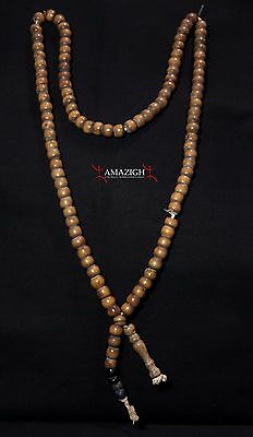 Old Chaplet Tasbih - 100 Wooden Beads - South Morocco • CAD $151.14