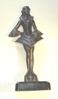 Original Art Deco Bronze Patinated Cast Iron Figurine 1936