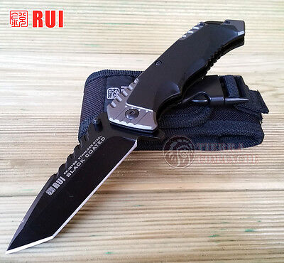 Navaja Tactica RUI 19765 Black Coated Knife Messer Coltello Couteau