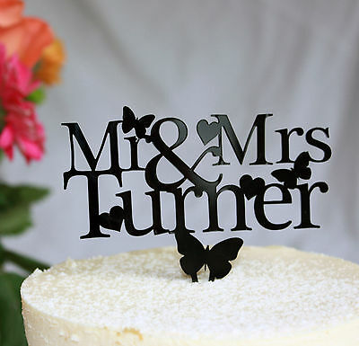 Wedding Cake Topper Decoration Personalised With Any Surname