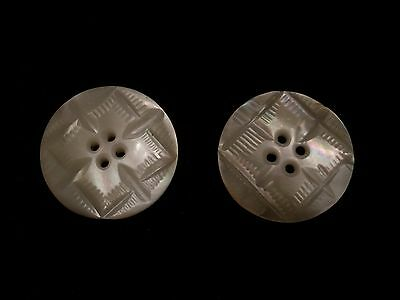 Vintage Victorian lot mother of pearl shell MOP buttons beautifully carved