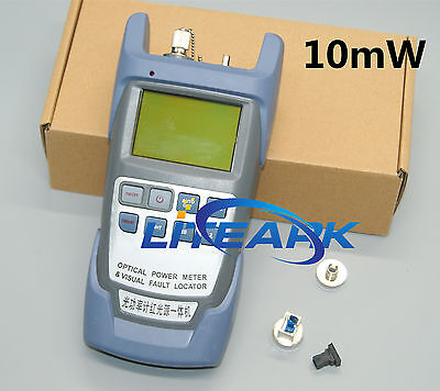 All-in-One Fiber Optical Power Meter and 10mW Visual Fault Locator 10KM Cable 50