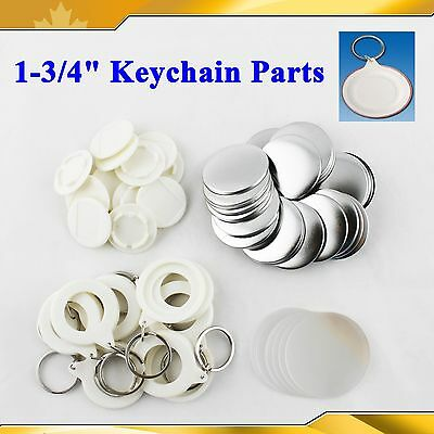 "SELL  44mm 1-3/4"" Keychain  Supplies 100sets for Pro Maker Machine Commercia DIY"
